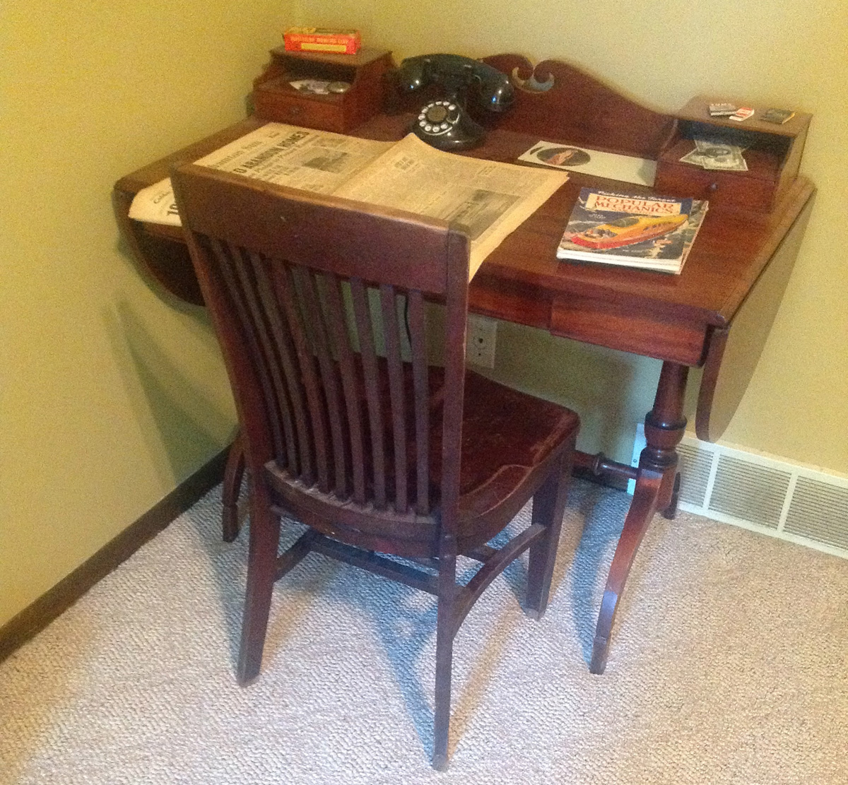 A Desk Chair And A Half Moon Table Uncategorized The